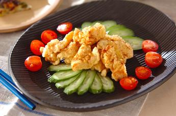 鶏むね肉の香り天ぷら