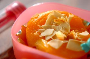 黄桃アーモンド焼き