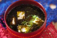 豆腐とアオサのお吸い物