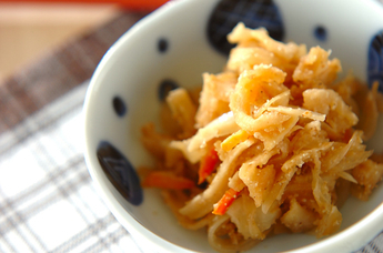 切干し大根のピリ辛甘酢炒め