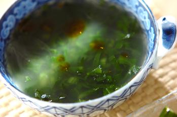春菊とジャコのスープ