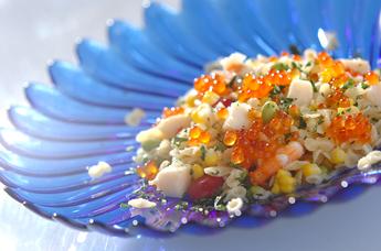 ファルファッリーネとホタテのサラダ