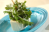 春菊と豆腐のホットサラダの作り方3