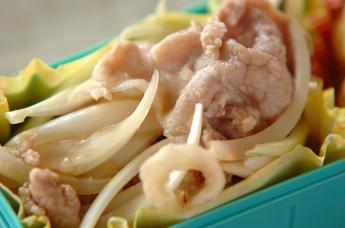 塩麹漬け豚と玉ネギのサラダ