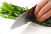 キクラゲと青菜のからし和えの作り方1