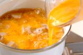 ユリネの甘卵とじの作り方2
