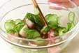 キュウリとタコの酢の物の作り方1