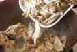 豚肉とキノコの卵炒めの作り方2