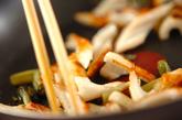 ちくわと野沢菜の炒め物の作り方1