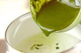 抹茶ゼリー・バニラソースの作り方1
