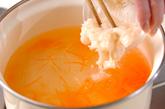 葛きり入りスープの作り方1
