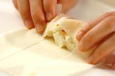 柿のチーズ春巻きの作り方2