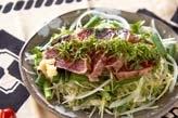 カツオのたたきサラダ