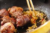 肉巻き豆腐のチリソース炒めの作り方2