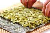 茶そば巻き寿司の作り方2