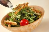 水菜のゴマドレッシングサラダの作り方3