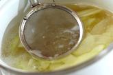 白ウリとミツバのお吸い物の作り方1