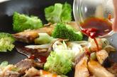 ブリの黒酢炒めの作り方2