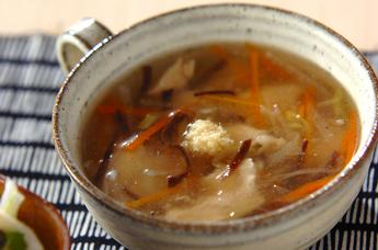 鶏むね肉のトロミスープ