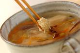 鶏むね肉のトロミスープの作り方2