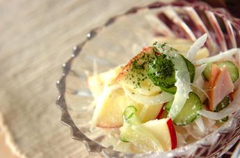 リンゴとハムのサラダ