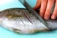 魚のガーリック焼きの下準備1