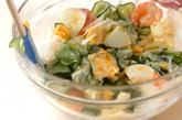 エビとキュウリのサラダの作り方1