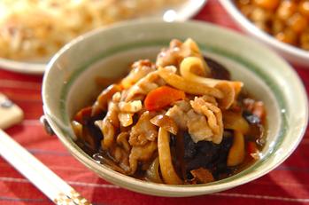 豚肉とシイタケのうま煮