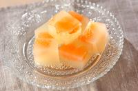 グレープフルーツの寒天