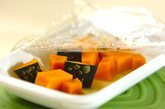 カボチャの粒マスタードサラダの作り方1