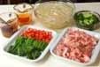 野菜炒めオムレツのっけの下準備1