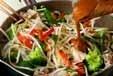 野菜炒めオムレツのっけの作り方1