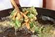 大豆と菊菜のかき揚げの作り方3