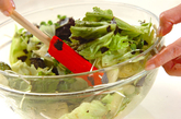 レタスとのりのサラダの作り方1
