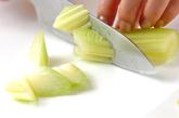 レタスとのりのサラダの下準備2