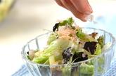 レタスとのりのサラダの作り方2