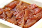 漬けカツオのお寿司の作り方1
