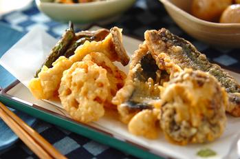 アジと野菜の天ぷら