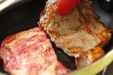 おろしのせ和風ステーキの作り方2