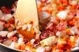 タコのトマト煮込パスタの作り方1