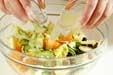 白菜と果物のサラダの作り方2
