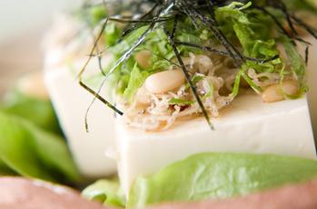 豆腐のジャコサラダ
