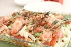 豚バラ肉と野菜のオーブン焼き