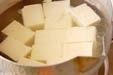 揚げ出し豆腐キノコあんの下準備1