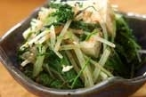 豆腐と青菜のおかか和え
