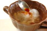 レンジで簡単みぞれチキンスープの作り方3