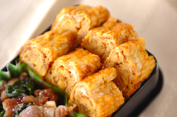 ナメタケとツナの卵焼き