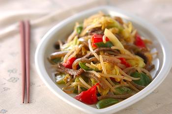 野菜のピリ辛炒め