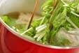 エノキと青菜のみそ汁の作り方1