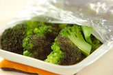 ブロッコリーとホタテの塩炒めの作り方1